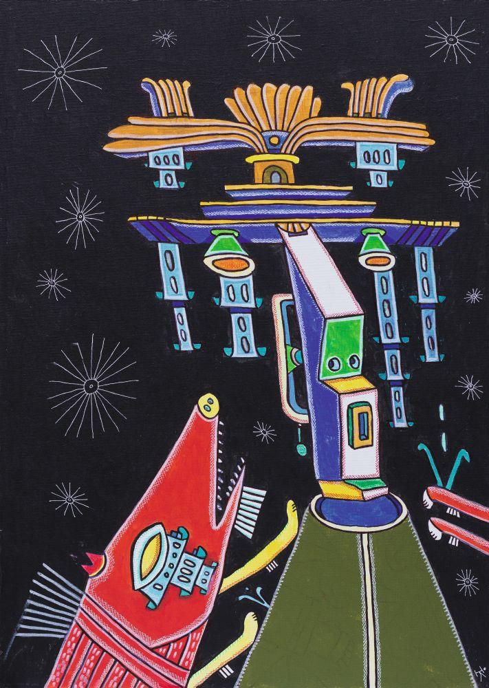 Плаксы. 2016. Холст накартоне, акрил. 70×50см. Коллекция галереи «Яна»