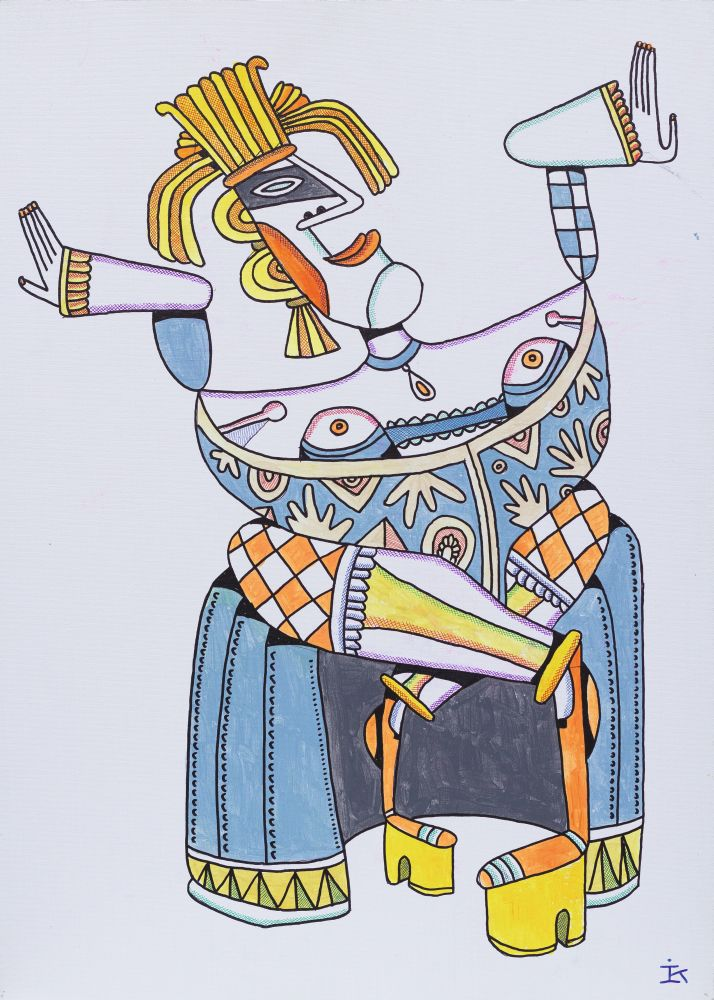 Путана. 2010. Картон, акрил. 70×50см. Коллекция галереи «Яна»