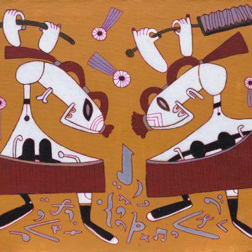 Орфей мёртв. 2014. Холст, акрил. 60×70см. Коллекция галереи «Яна»