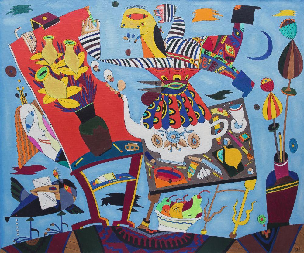 День рождения. 1989. Холст, масло. 100×120см. Коллекция галереи «Яна»