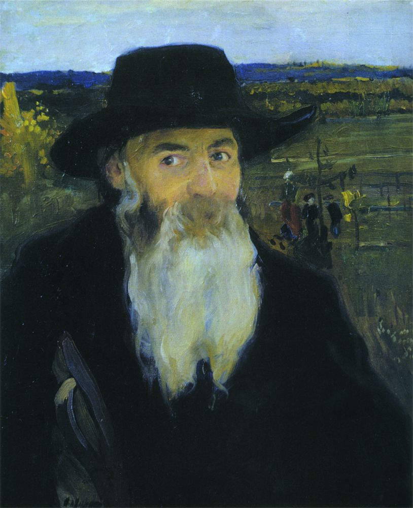А.Мурашко. Старый учитель. Портрет Николая Мурашко. 1906. НХМУ