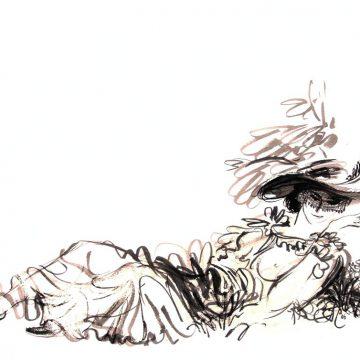 А.Чебыкин. Иллюстрация ккниге И.Франко «Зів'яле листя»