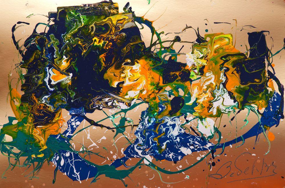 Дыхание морского ветра над сумраком вод. Бумага, масло. 81,5×122,5 см. Частное собрание