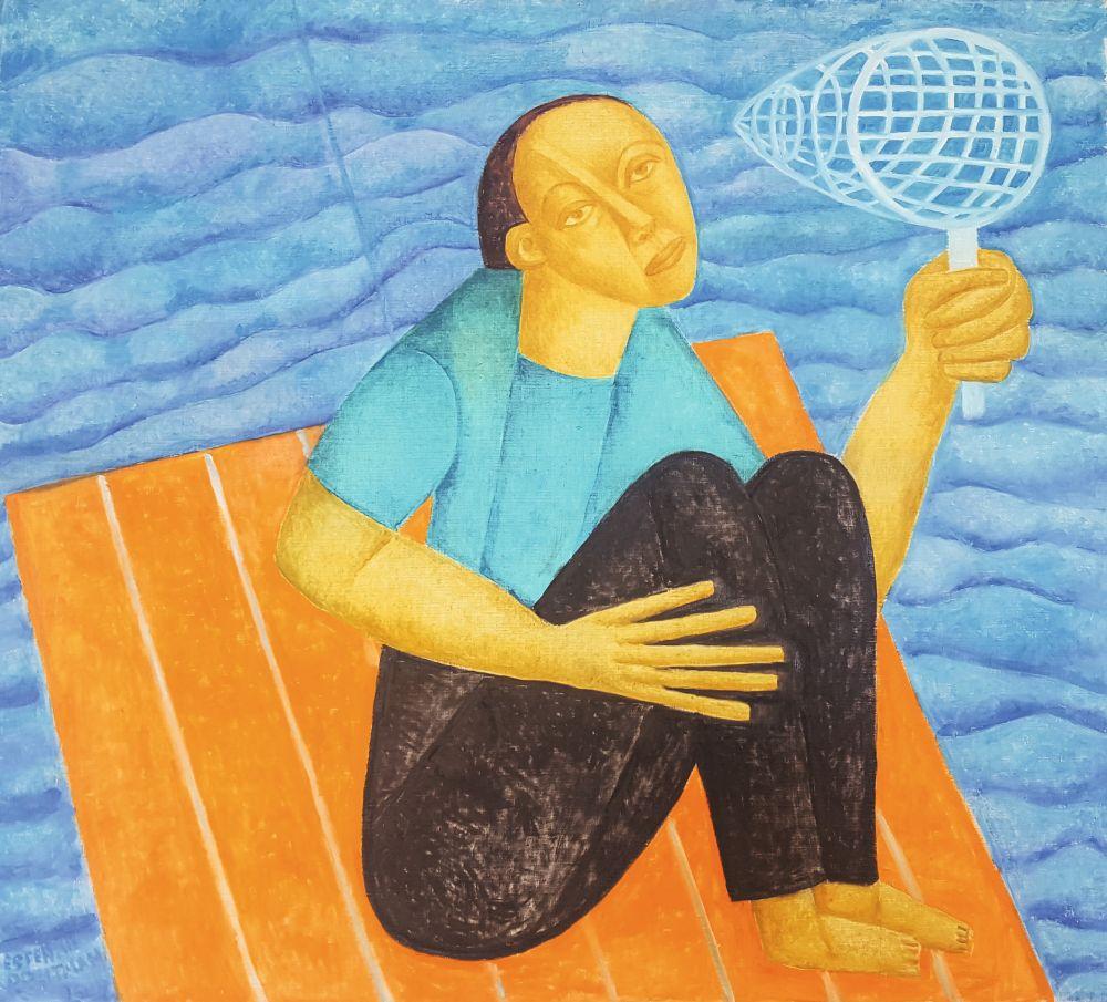 Ловец снов. 2013. Х., м. 90×100 см. Частное собрание