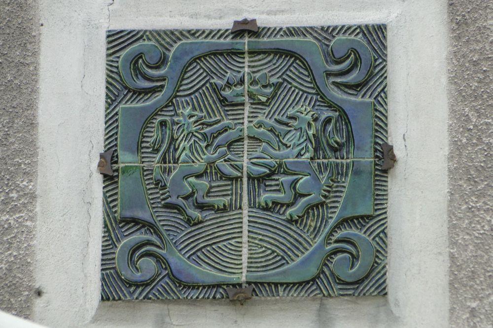 Керамический герб гильдии булочников (1984). ФотоЭ.Щуки