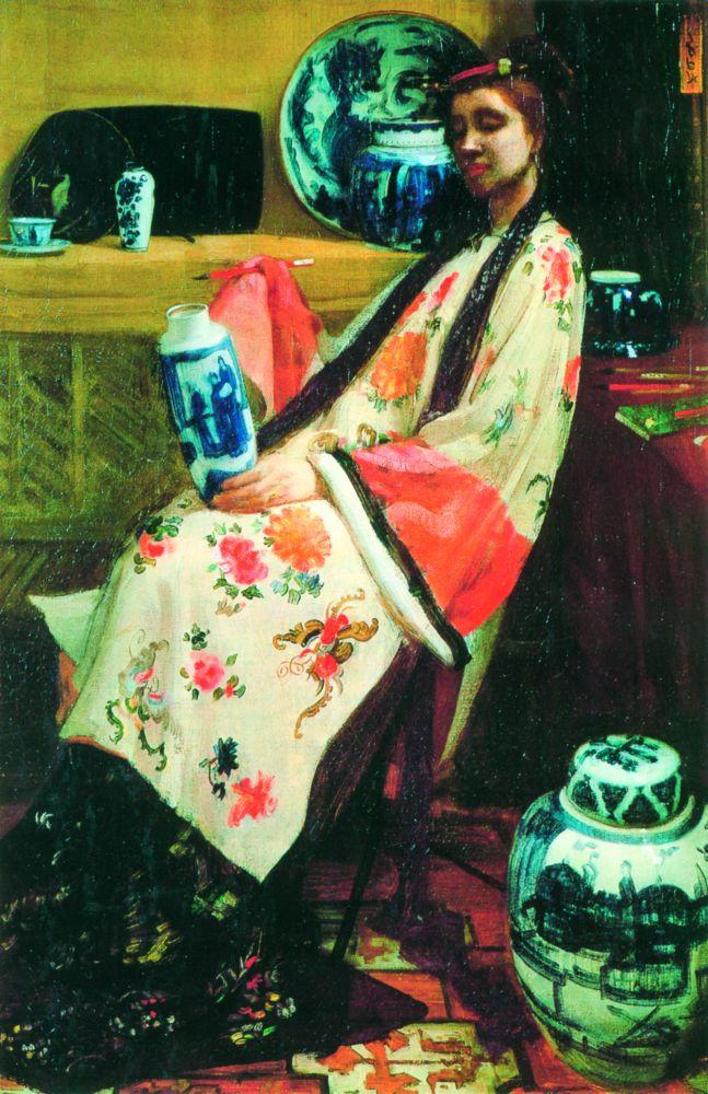 Д.Уистлер. Пурпурное ирозовое: китайский фарфор. 1864. Х., м. Музей искусств, Филадельфия