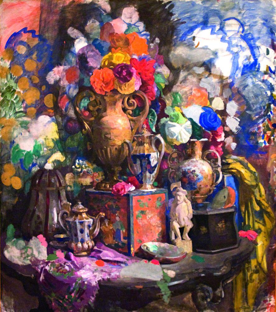Н.Сапунов. Цветы ифарфор. 1912. Х., темпера. 178×161см. Государственный Русский музей, Санкт-Петербург