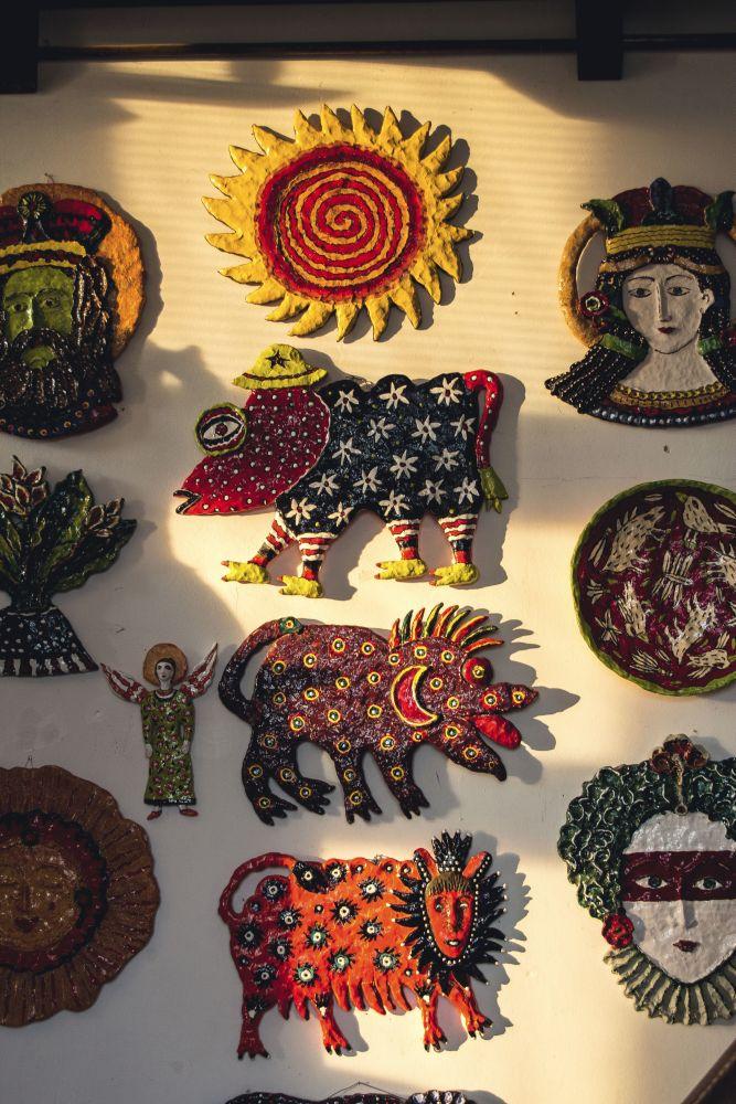 Керамика, вдохновленная любимым художником Нелли Исуповой - Марией Примаченко