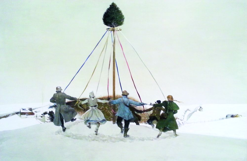 Э.Уайет. Снежная гора. 1989. Доска, темпера. Brandywine River Museum of Art (изколлекции Эндрю иБетси Уайет)