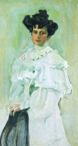 Портрет Елизаветы Алексеевны Красильщиковой. 1906. Х., м. 125×71см. КНМРИ