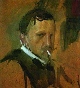 Автопортрет. 1901. Б., гуашь. 49×35см. Одесский художественный музей