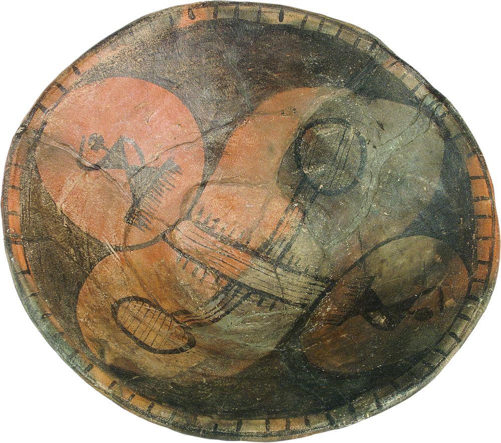 Миска. 3850–2900гг. дон. э. Керамика; выс. 9,4см, диаметр 27–28,3см. Инв. № ПКП 207
