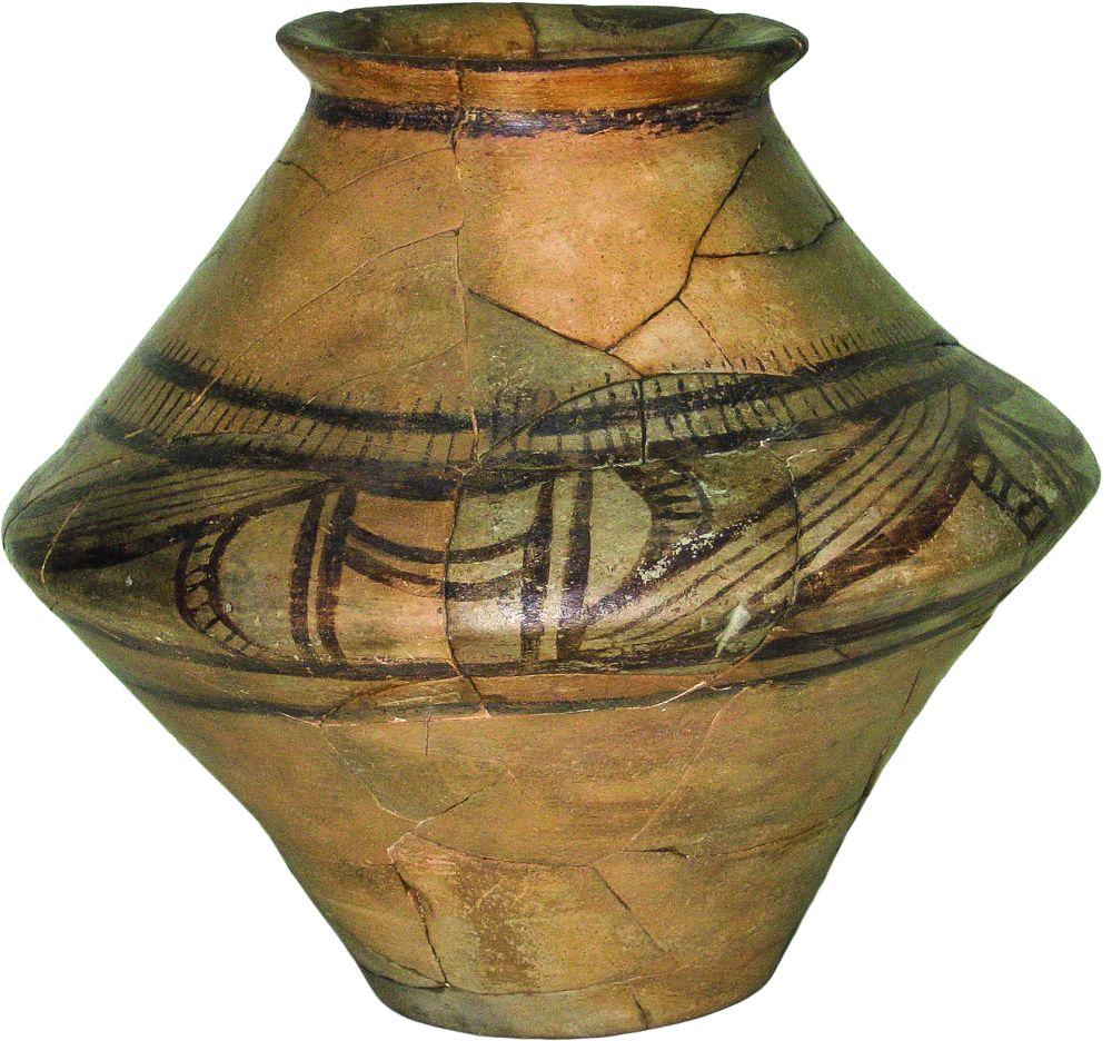 Горшок. 3850–3500гг. дон. э. Керамика; выс. 20,7см. Инв. № ПКП 5888