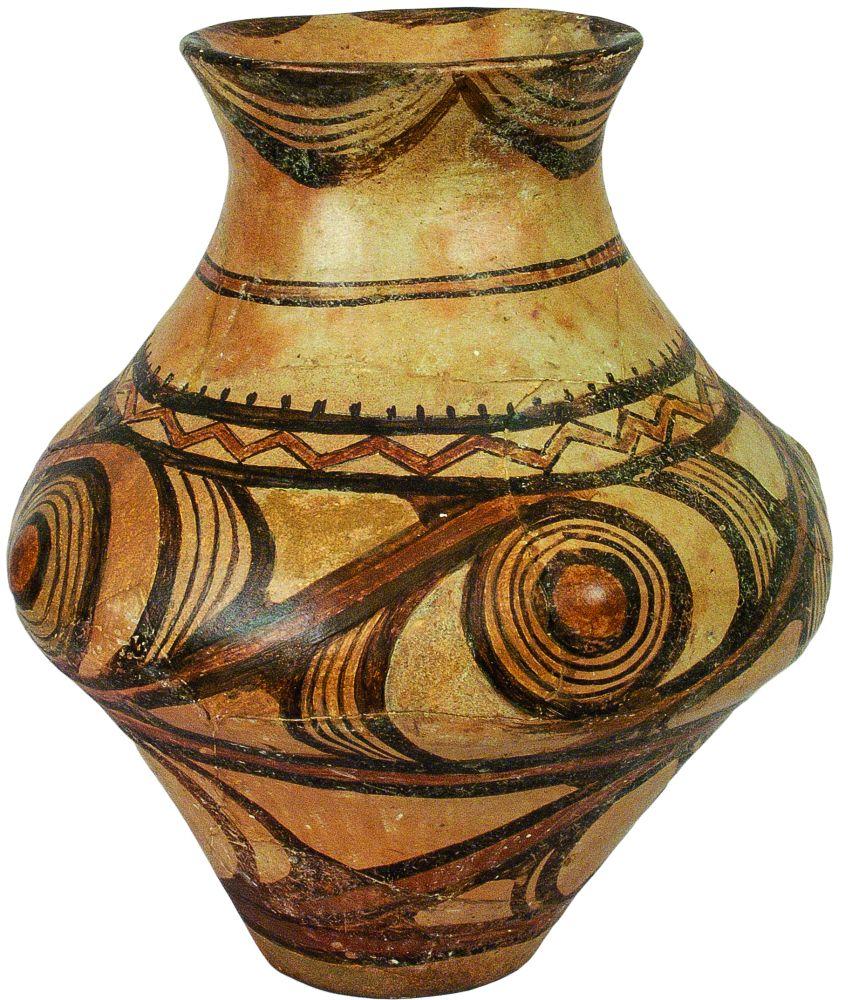 Горшок биконической формы. 2‑япол. IV тыс. дон. э. Керамика; выс. 22см. Инв. № ПКП 68