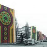 Трипольские узоры на торцах жилых домов на проспекте Победы