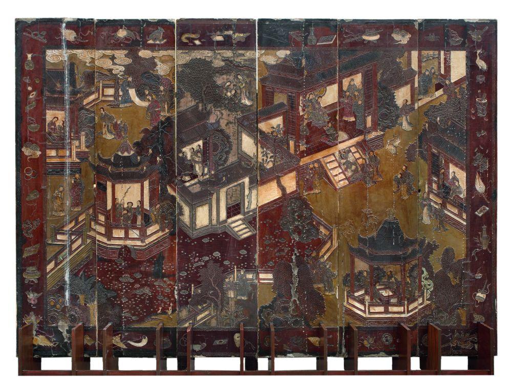 Коромандельская ширма. Китай,сер.XVIIв.,династияМин