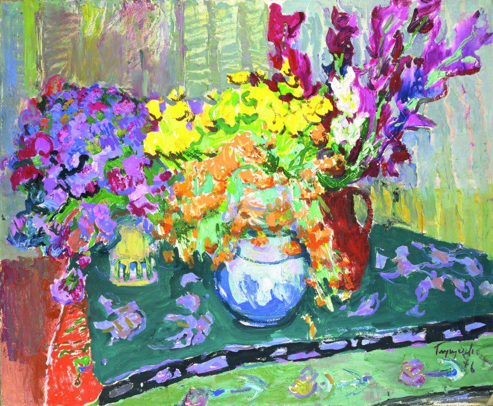 Н.Глущенко. Украинские цветы. 1976. К., м. 86,3×104,9см