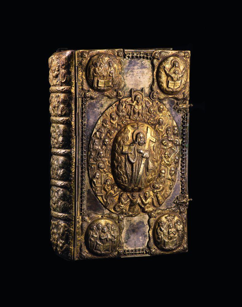 Верхняя крышка оклада Евангелия 1690 г. из коллекции Музея «Духовные сокровища Украины»