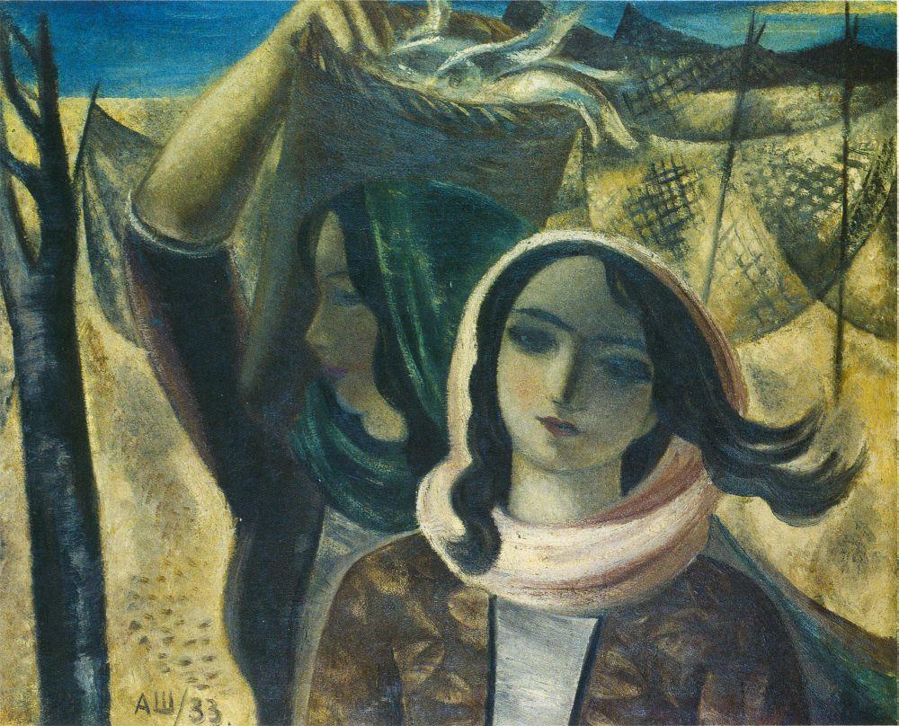 А.Шевченко. Алжирские рыбачки. 1933. Х., м. 65×81см