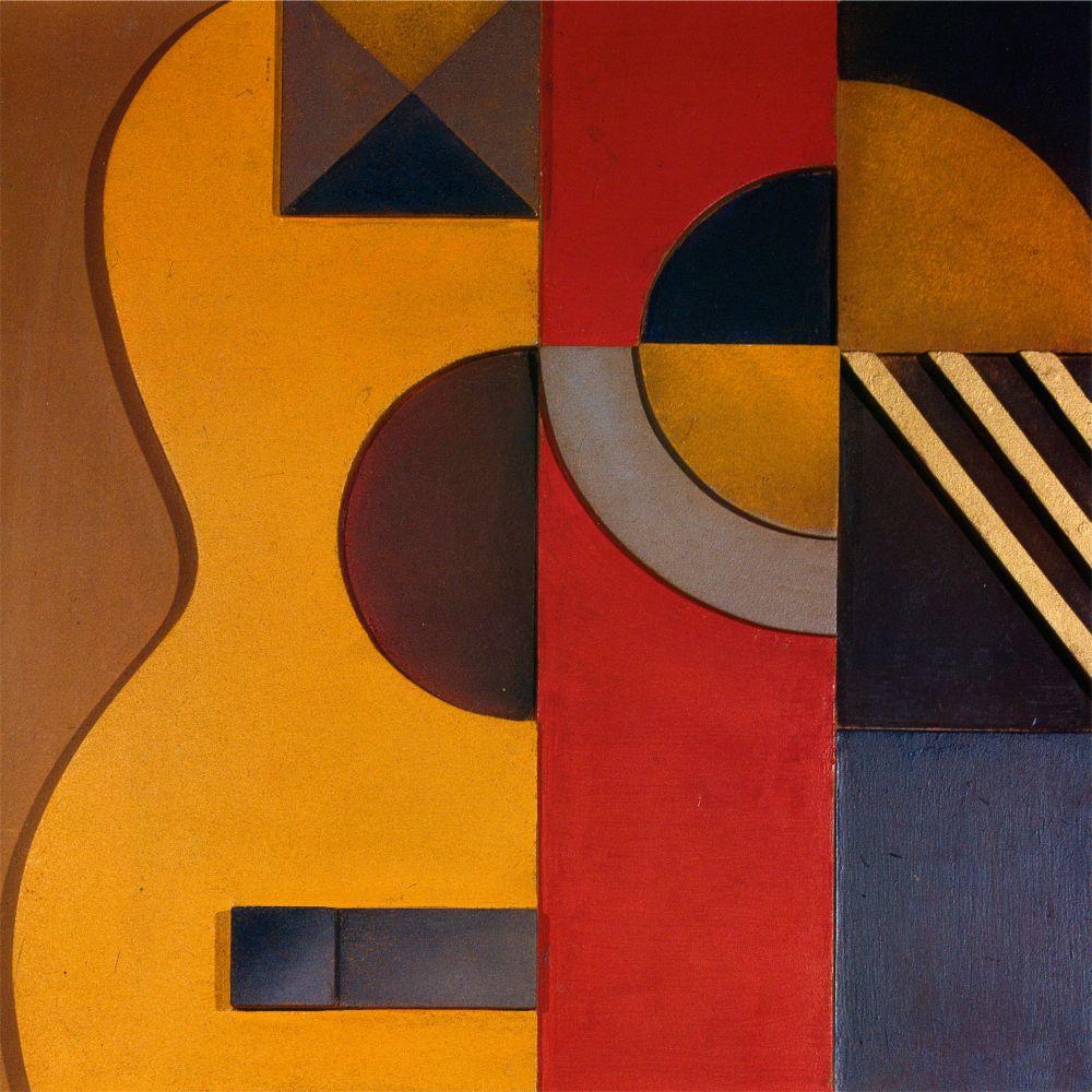 В.Ермилов. Гитара. Рельеф. 1924. Д., м. 44,5×44,5см