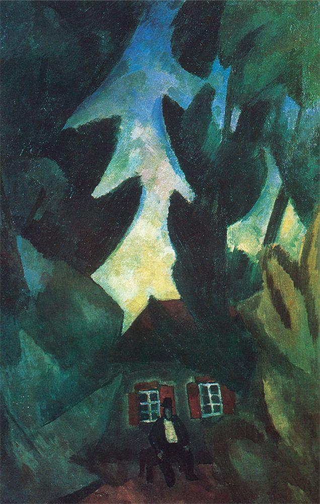 Р.Фальк. Хозяин домика. 1912. Х., м. 59,5×89см