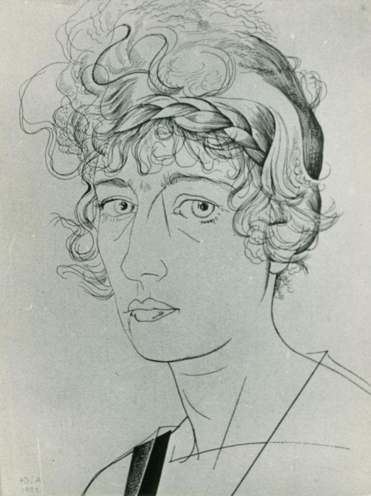 Ю.Анненков. ПортретО.Глебовой-Судейкиной. 1921