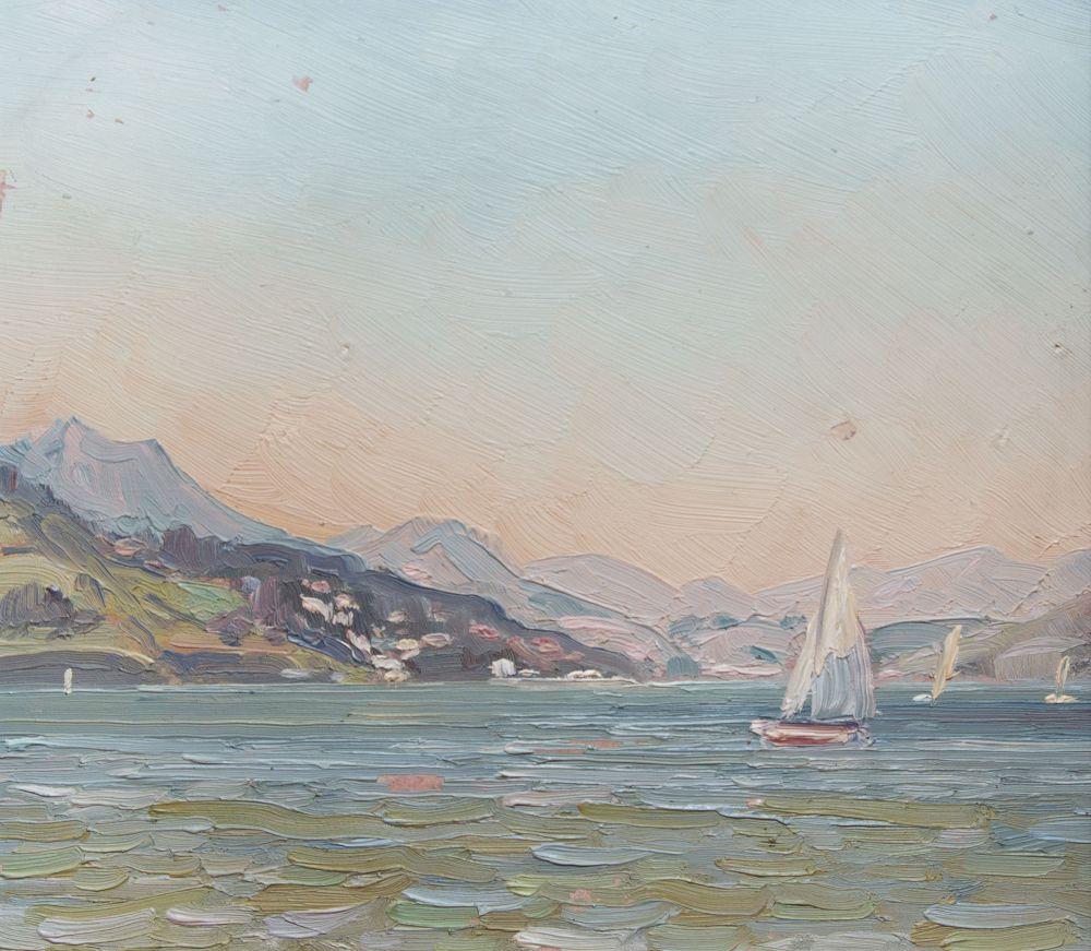 В.В.Кричевский. Залив Сан-Франциско. 1952. К., м.