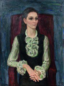 В.Рыжих. Портрет Галины Неледвы. 1971. Х., м. 100×70см