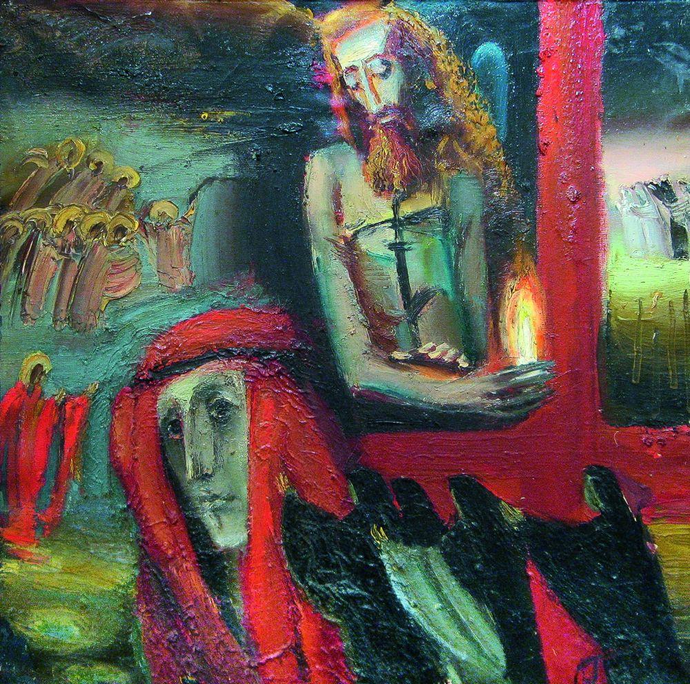 Г.Неледва. Христос иМагдалина. 1989. Х., м. 100×100см