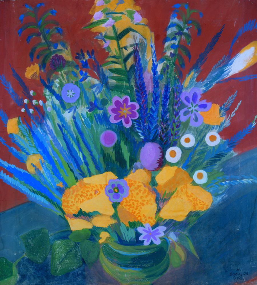 М.Сарьян. Цветы Армении (Степные цветы). 1916. Холст, темпера. 70×65,5см. КНМРИ (из коллекции Д. Л. Сигалова)