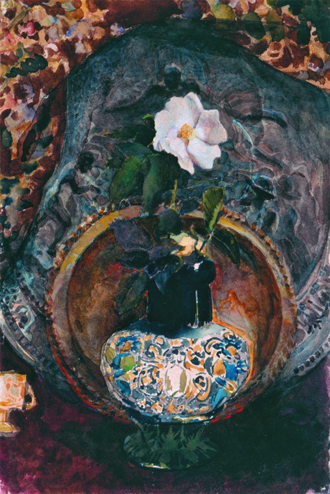 М.Врубель. Шиповник. 1884. Бумага, акварель. 24,5×16,3см. КНМРИ (из коллекции Д. Л. Сигалова)