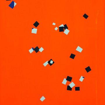 О.Соколов. Блюз. 1968. Аппликация, гуашь. 38×37см