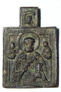 Бронзовая нательная иконка. Российская империя, XVIIIв.