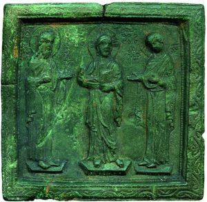 Византийская бронзовая икона. XIIв.