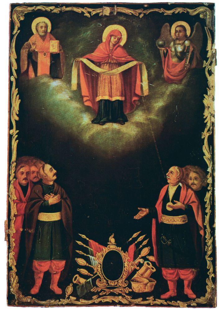 Покров Богородицы. 1760. Национальный художественный музей Украины