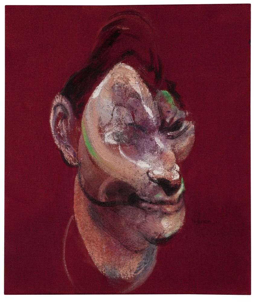 """Фрэнсис Бэкон. """"Три штудии для портрета Люсьена Фрейда"""". Правая часть триптиха. 1964. Холст, масляная живопись."""