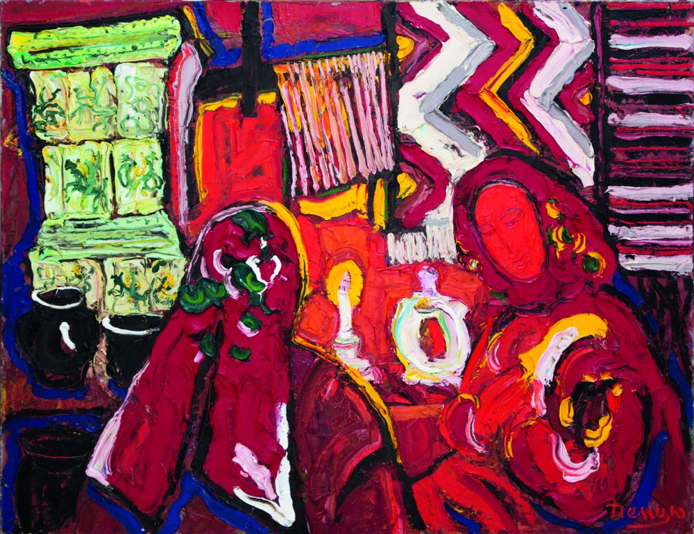 М.Демцю. Вечерний разговор. 2004. Х., м. 91×116см