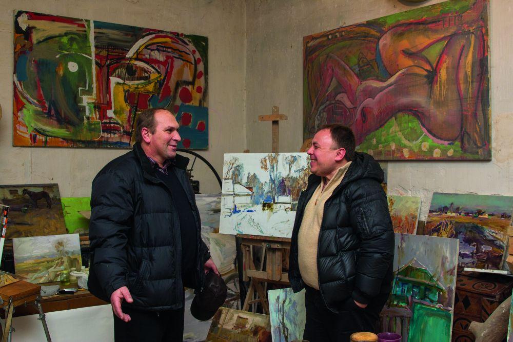 Алексей Шереметьев ипредседатель сельсовета с. Ленино (Ставки) Виктор Волынец