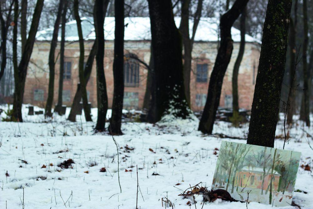 Зимний пленэр вусадьбе Дуниных-Вонсовичей