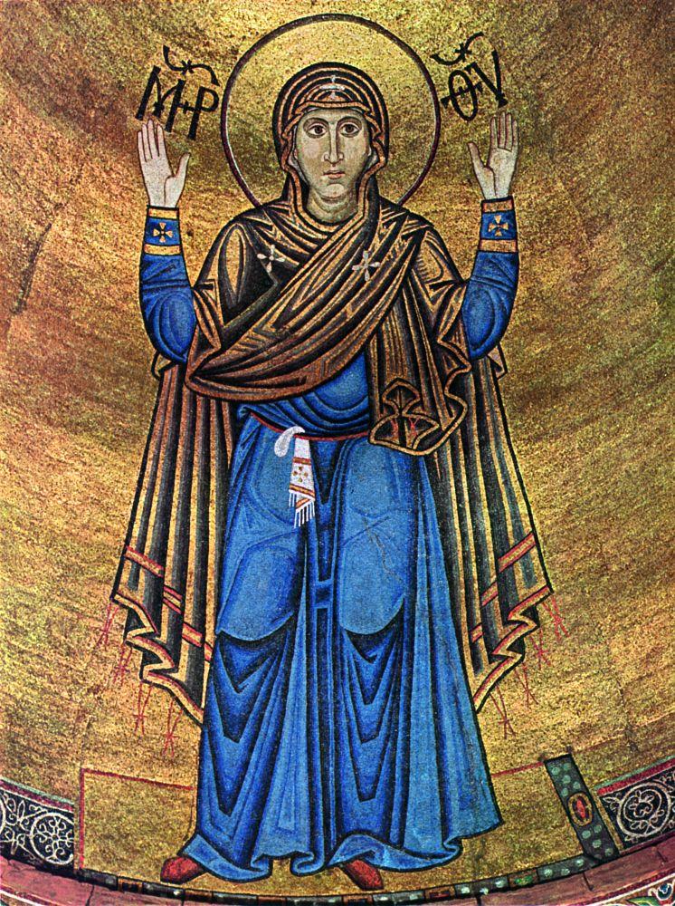 Богоматерь Оранта. ХІ в. Мозаика вкиевском Софийском соборе
