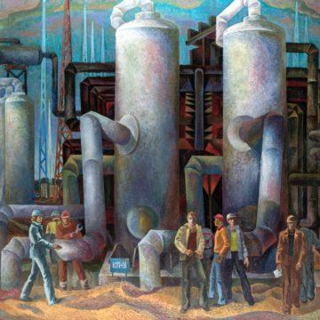 ЮрийЗорко. Газовики Вуктыла. 1978–1979. Х., м. 150×165см. Эст. $1000–2000