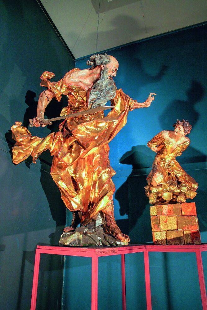 СкульптураИ.Пинзеля «Жертвоприношение Авраама». Ок. 1760. Музей сакральной барочной скульптуры И. Г. Пинзеля, Львовская национальная галерея искусств им. Б.Г.Возницкого