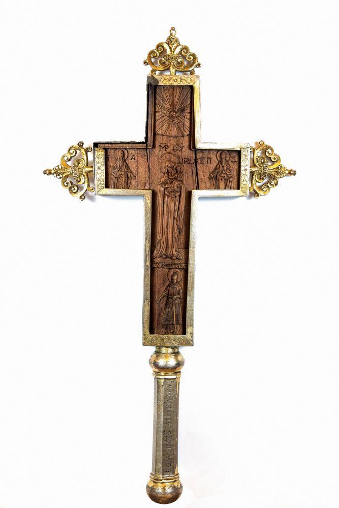 Крест благословенный с воспроизведением выгравированной на нём надписи. Киев, 1797г.