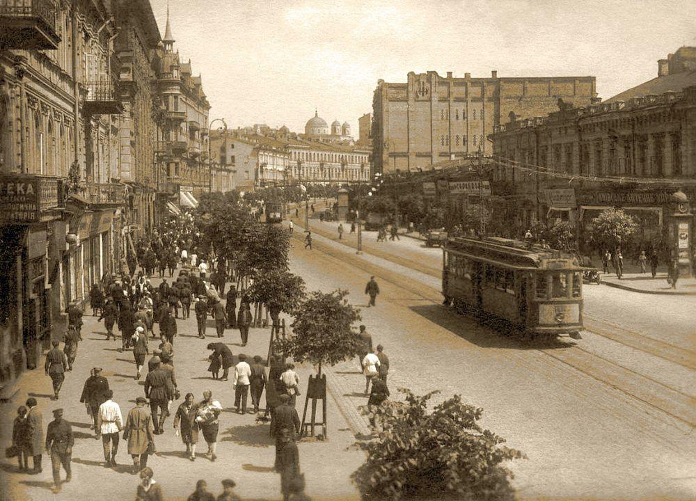Хрещатик. Фото 1930-х рр.