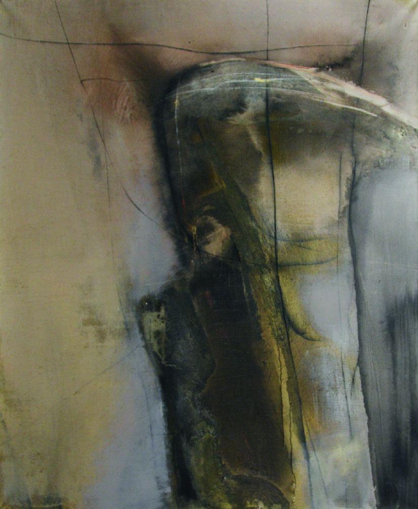 И.Янович. Безназвания (проект «Диалог»). 2009. Холст, смешанная техника. 200×160см
