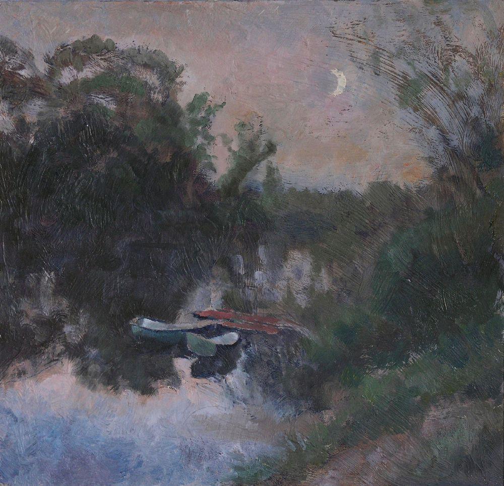 И.Григорьев. Сумерки. 2010. Х., м. 40×40см
