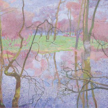В.Зарецкий. Голубая весна. 1986. Х., м. 54,8×98,5см