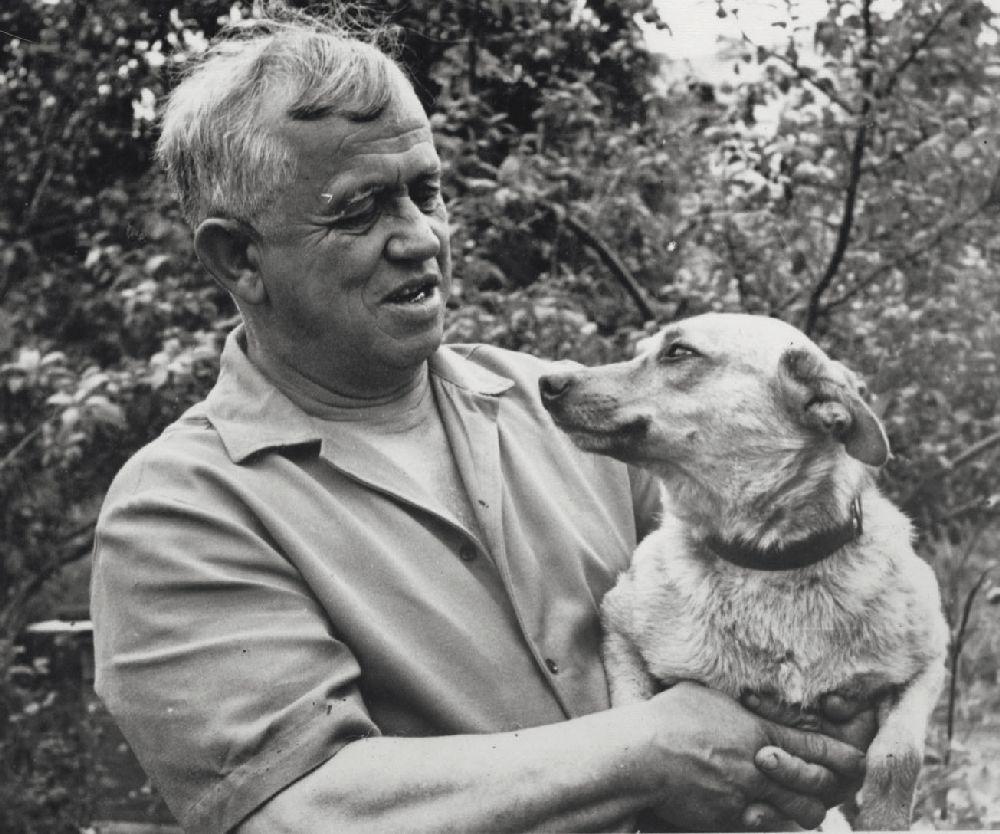 С.Григорьев сМишкой. 1972