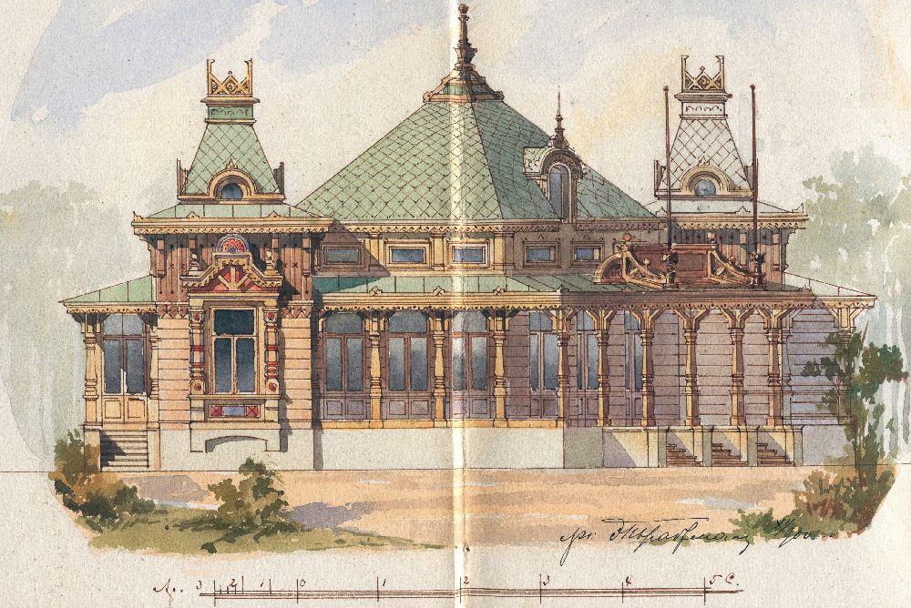 Проект летнего ресторана вПуще-Водице (архитектор Э.Брадтман)