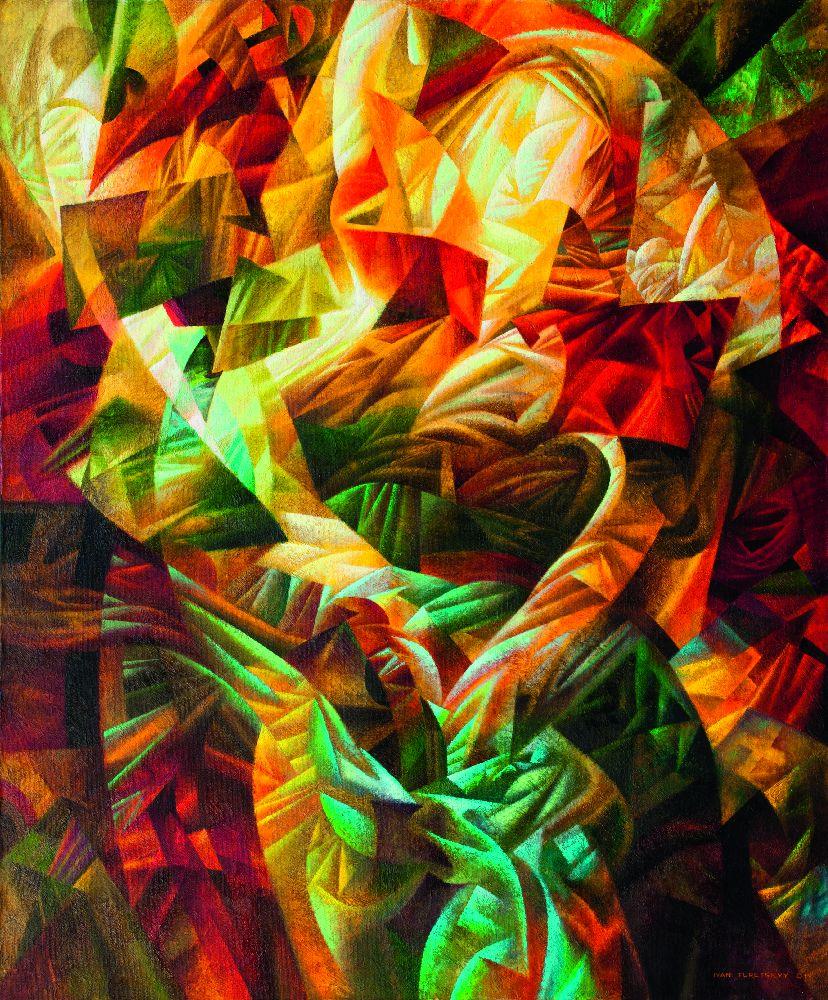 Музика світла. 2011. Полотно, акрил, олія. 120×100см